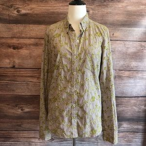 Odille Anthropologie Button Down Shirt Sz 10